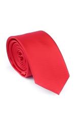 Cravata Slim rosie din matase