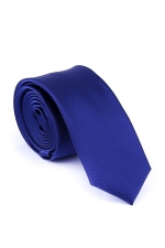 Cravata Slim albastra din matase