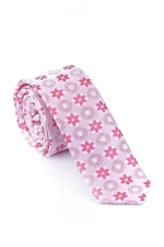 Pink Tie With Flowers