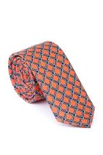 Orange Tie With Diamonds