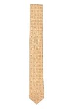 Orange & Ivory Tie With Rectangles