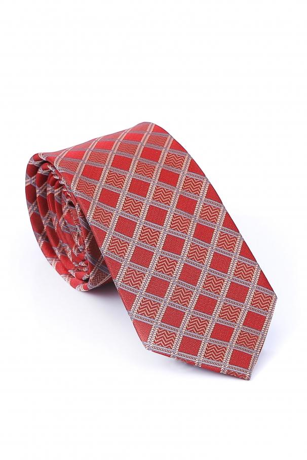 Cravata Slim de culoare rosie cu ivoar