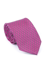 Pink Tie With Circles