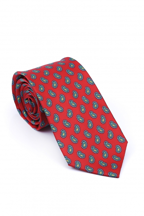 f5844dd15 Red Tie With Paisley Pattern ...