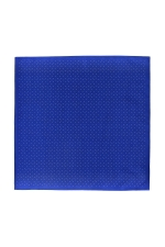 Batista de buzunar albastru electric cu pucte albe