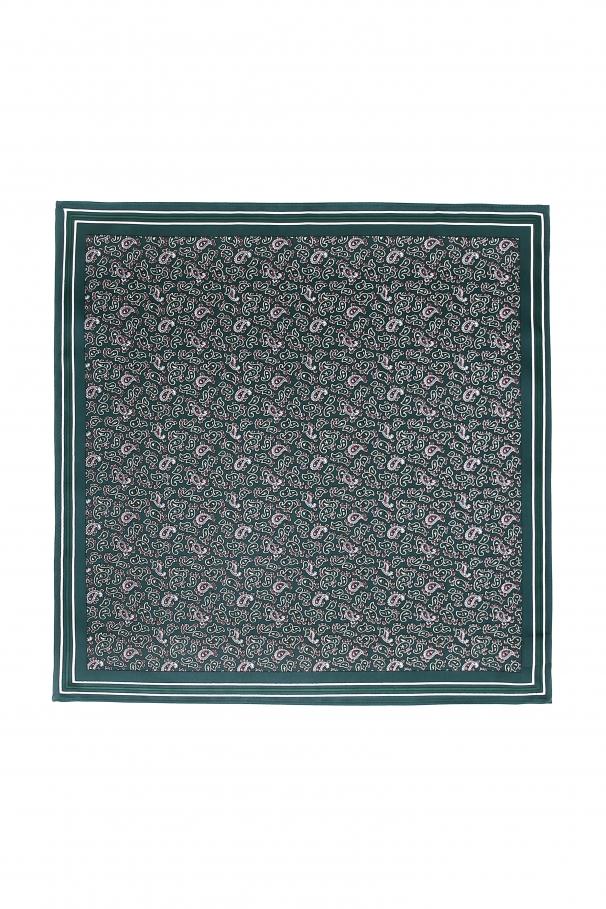 9ec605f77 Dark Green Pocket Square With Paisley Pattern ...
