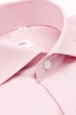 Camasa casual roz pal cu nasturi din perla