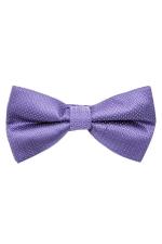 Papion din matase violet in picatele albe