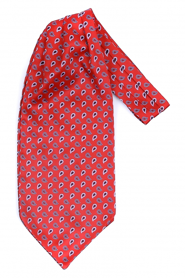 83eb2af0d Red ascot scarf with white paisley by Grazie Filipeti ...