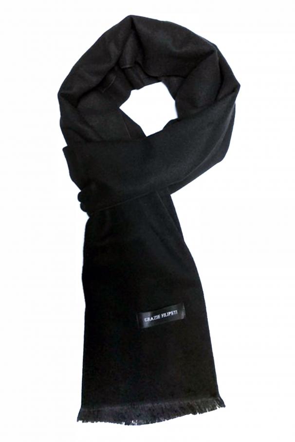 203b616a6 Solid black cashmere scarf by Grazie Filipeti ...