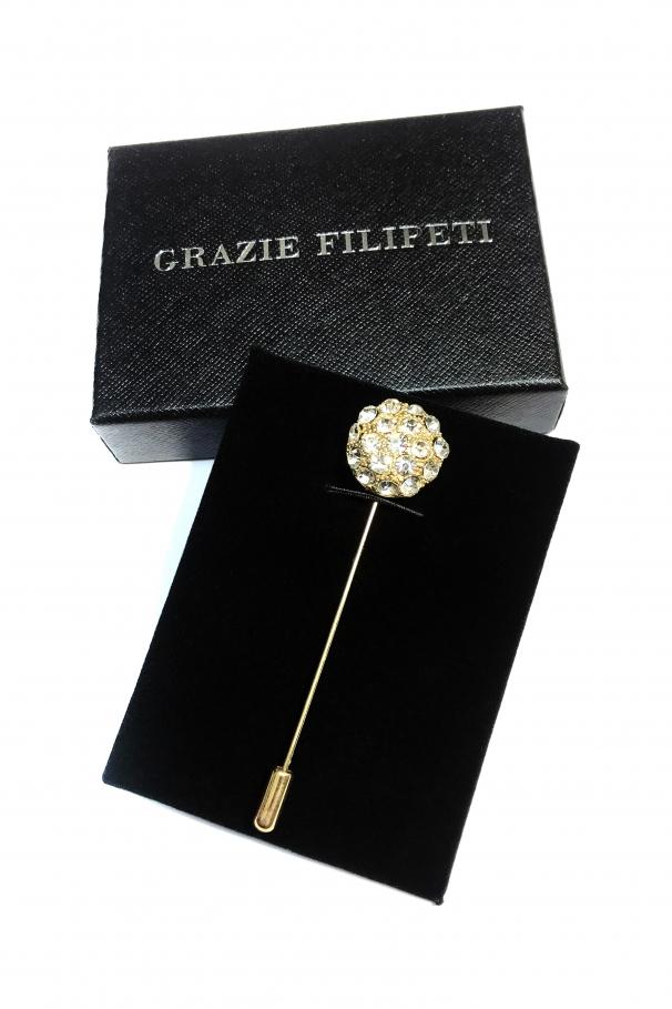 Pin sub forma de floare marca Grazie Filipeti