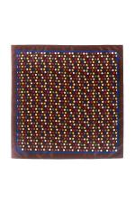 Batista maro cu puncte multicolore