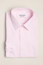 Cămașă slim fit roz în dungi