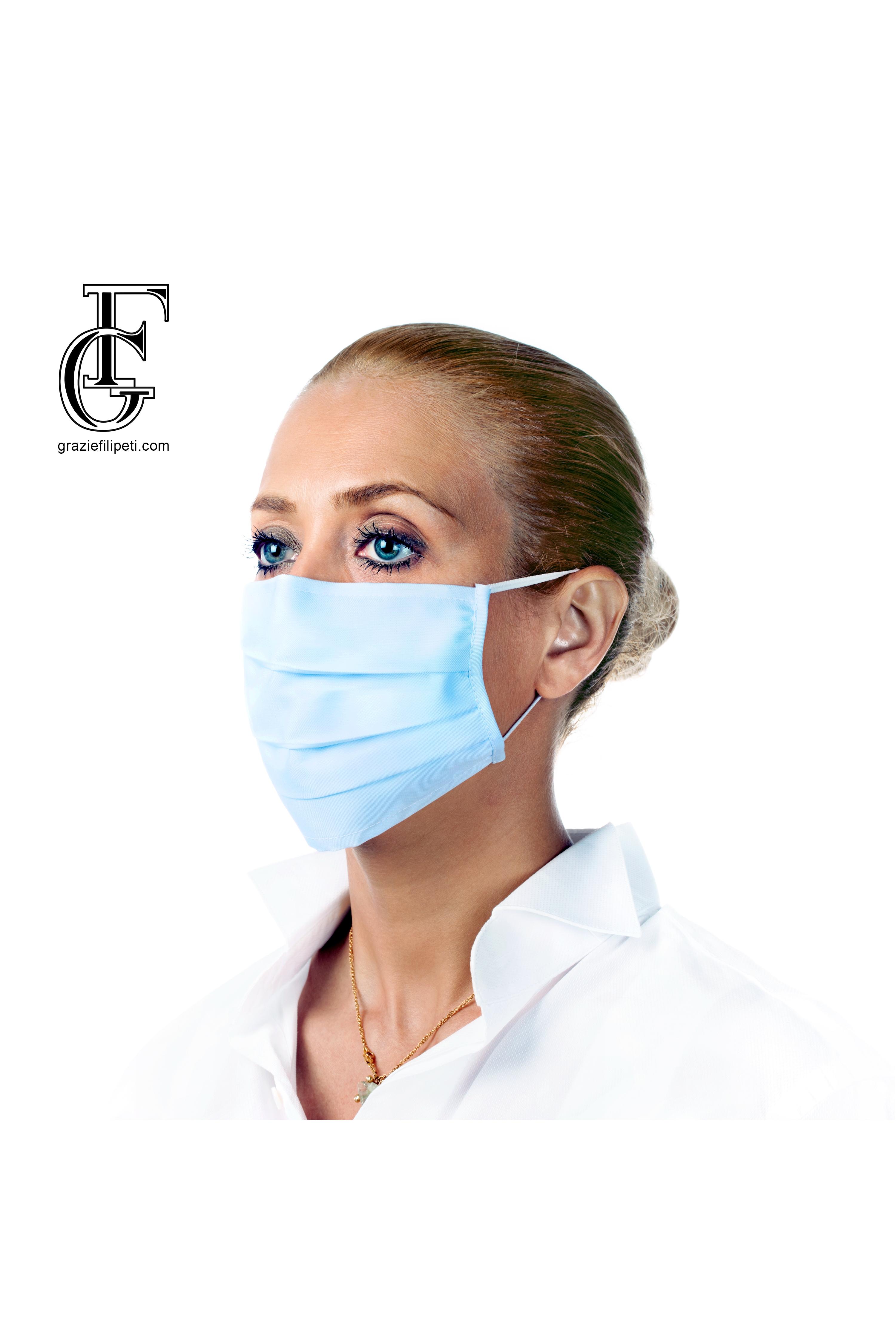 50Pk 3 Layer Protective Disposable Face Masks - Blue Camo