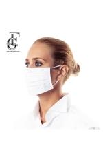 Mască de protecție bleu cu alb (din 100% bumbac)