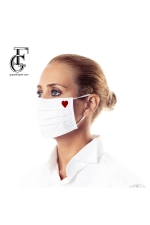 2-Layer Face Mask (red heart)