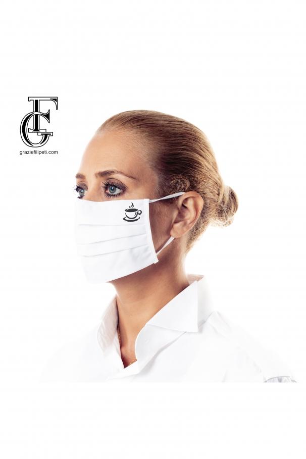 Mască personalizată din bumbac (model - cafea)