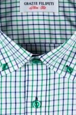 Camasa casual slim fit verde in carouri
